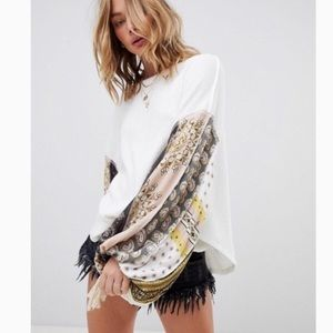 Free People Blossom Thermal Balloon Sleeve Size S